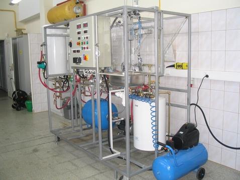 Stanowisko do badania właściwości hydraulicznych baterii kranowych