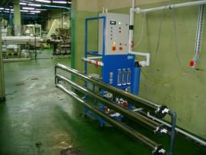 Odwrócona osmoza serii RO wydajność 3 m3/h montaż membran w poziomie