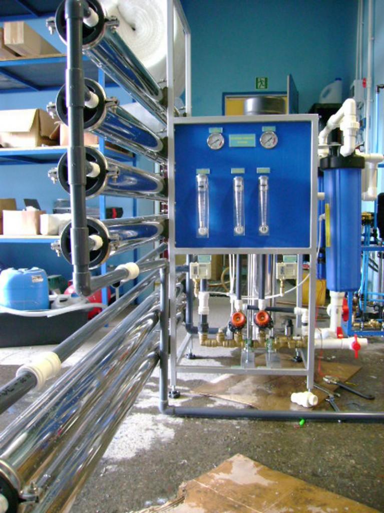 Odwrócona osmoza serii RO wydajność 4 m3/h montaż membran w poziomie
