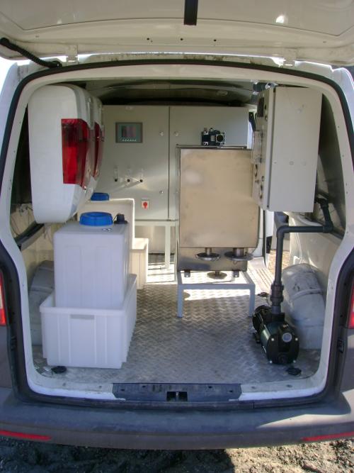 Mobilna stacja dezynfekcji wody