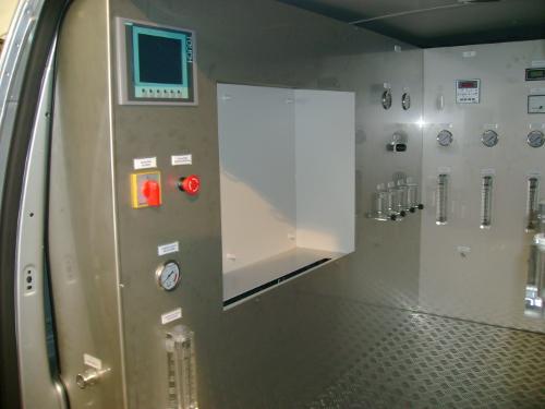 Laboratorium techniczne - ściana boczna